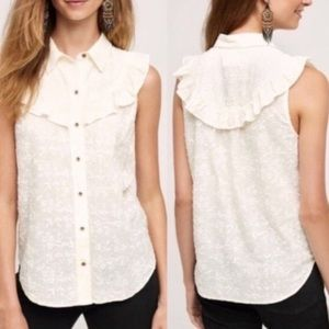 Anthropology Maeve Button down blouse